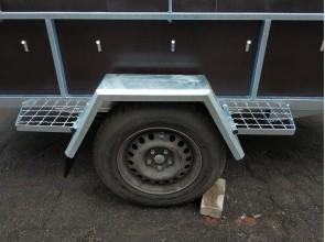 Крыло металлическое оцинкованное на одноосный прицеп для колес R13 R14