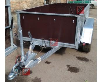 Прицеп бортовой, двухосный с тормозной системой и пневматическими подушками  1280х2500х600мм