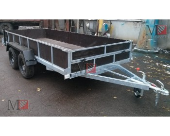 Прицеп для перевозки трактора, двухосный  1650х4200х400мм